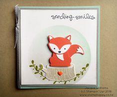 stampin up foxy friends a little foxy