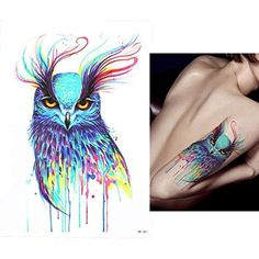 06325007f7572 Women Girls Men Animal Colours Temporary Tattoo Stickers for Arms Shoulders  Chest >>> Find out more about the great product at the image link.