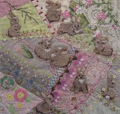 Bunny quilt, would be lovely as a framed piece.