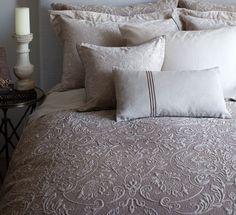 Light Brown Cotton Matelasse Bedding, Coverlets, Bedspreads. St. Geneve Boheme Fawn. http://www.jbrulee.com/pd-light-brown-cotton-matelasse-bedding-st-geneve-boheme-fawn.cfm