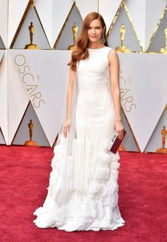 Darby Stanchfield arrives in Georges Chakra on the Oscars red carpet for the 89th Academy Awards.  2017 Amazing. So different  Lauren B Montana