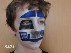 Face painting Star Wars - R2D2