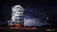 Vitrum, a new office building tower in Lagos, Nigeria. this tower stands 14 stories high with a total built up area of around 10,000sqm in the Business sector of Lagos.