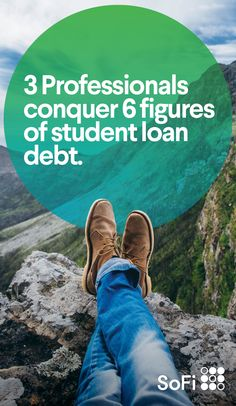 Three SoFi members share how they are crushing six-figure student loan debt with refinancing and changing their lives and careers for the better. Paying Off Student Loans, Student Loan Debt, Making Life Easier, Debt Free, College Life, Colleges, Nifty, Hustle, Organizing