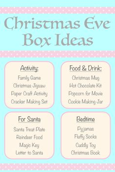 Create a Christmas Eve box for the holiday season? Here are some ideas to include in this fun family tradition. Pinner Jessica Velasco Quelle Bildgröße 600 x 900 Boardname Christmas eve box Ansichten 15 Diy Christmas Eve Box, Xmas Eve Boxes, Christmas Books, Family Christmas, Winter Christmas, Christmas Crafts, Christmas Things, Christmas Eve Traditions, Family Traditions
