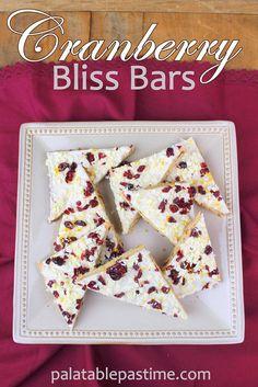 Cranberry Bliss Bars #CranberryWeek