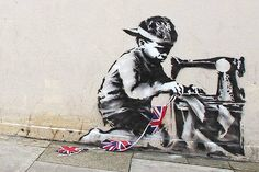 Is this London's latest Banksy? Artwork springs up overnight on side of Turnpike Lane Poundland