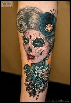 25 sugar skull tattoo designs - Skullspiration.com - skull designs, art, fashion and more