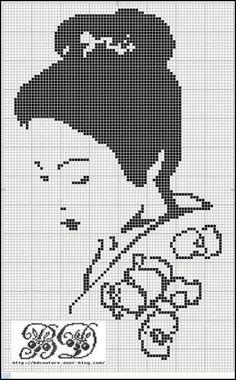 Un très joli portrait en grille gratuite, que l'on peut diffuser sans problème. Bon dimanche !
