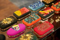 A selection of clutches at Teatro Dhora.