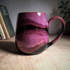 Rich Purple Artisan Coffee Mug Earthy  Organic Handmade