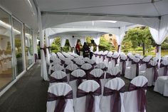 Purple wedding ceremony