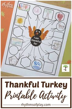 Invite children – and adults – to write, or draw, what they are most thankful for this Thanksgiving. It's super easy to express gratitude with our Thankful Turkey Thanksgiving Printable! It'll be fun to see what everyone comes up with on their list this year!