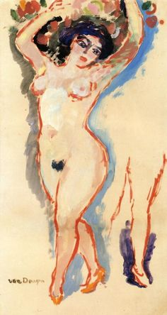 Kees Van Dongen 1877 - 1968 Woman\\\'s Head circa 1920 Private collection Painting - oil on canvas Height: 45.5 cm (17.91