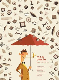 Silver Screen Society - Mon Oncle by Andrew | http://awesome-graphic-designs-collections.blogspot.com