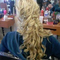 Wedding Hair with Rhinestones