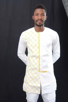 African clothing dashiki dashiki shirt men suit by EdemFashion Dashiki Shirt, Batik Shirt, African Clothing For Men, African Shirts, African Men Fashion, Africa Fashion, Mens Fashion, African Attire, Moda Masculina