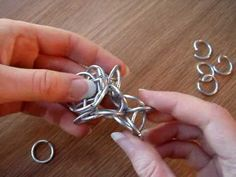 Hourglass Tetrahedron Chainmaille Tutorial