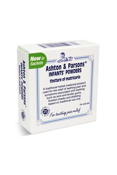 Ashton & Parsons Teething Powders Insanely more effective than all of the well-known teething gels on babies with severe gum pain, this old-fashioned powder is every granny and seasoned nanny's secret weapon.