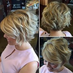 Short Blonde Bob With Beach Waves