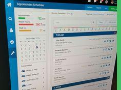 CRM Dashboard Appointment Scheduler for Service (Automotive) Dashboards, Appointments, Schedule, Ads, Design, Timeline