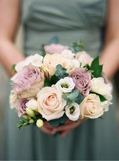 Blush, mauve and cream flowers