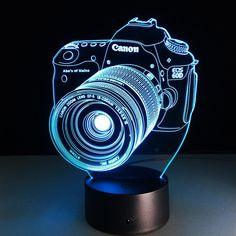 Canon EOS Camera 3D LED Illusion Cyan Color  by podoqo