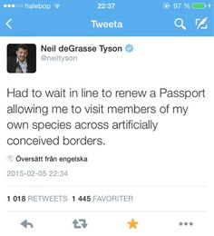 Neil deGrasse Tyson On Passports