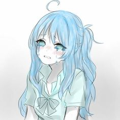 Crying because life sucks Anime Girl Crying, Sad Anime Girl, Anime Art Girl, Anime Oc, Dark Anime, Anime Chibi, Anime Triste, Desu Desu, Cute Anime Character