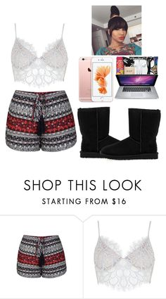 """Lazy Sunday -Glo Queen"" by krissyk-15 on Polyvore featuring Ally Fashion, For Love & Lemons and UGG Australia"