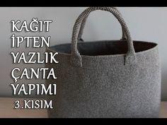 Fashion and Lifestyle Crochet Handbags, Crochet Bags, How To Make Rope, Handmade Tags, Crochet Videos, T Shirt Yarn, Summer Bags, Bead Crochet, Knitted Bags