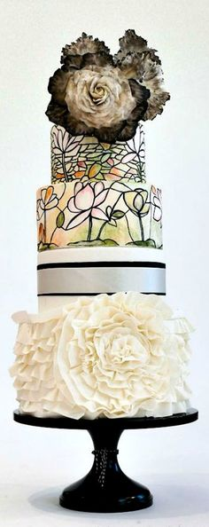 Stained-Glass Wedding Cake
