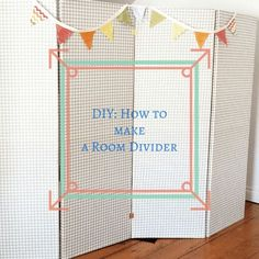 DIY_ How to make a Room Divider