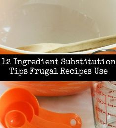 12 Ingredient Substitution Tips Frugal Recipes Use. This will come in handy during tough grocery weeks. Healthy Recipes On A Budget, Frugal Recipes, Clean Recipes, Simply Recipes, Frugal Tips, Frugal Meals, Budget Meals, Inexpensive Meals, Cheap Meals