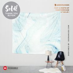 Just sold a Wall Tapestry of my artwork titled 'Minimal Marble'! Order yours or see all #redbubble products carrying this design here: http://www.redbubble.com/people/83oranges/works/22035658-minimal-marble-redbubble-lifestyle?p=tapestry&size=medium