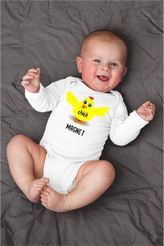 Chick Magnet Funny Chicken Baby Onesie
