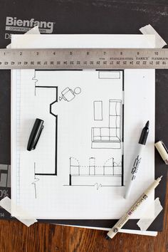 [ How Draw Floor Plan Beautiful Mess Without Any Special Tools Computer Programs ] - Best Free Home Design Idea & Inspiration Drawing House Plans, Floor Plan Drawing, House Drawing, The Plan, How To Plan, Modern Floor Plans, Farmhouse Floor Plans, Interior Design Sketches, Interior Design Tips