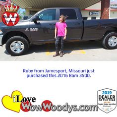 Congratulations to Ruby on purchasing this stylish Ram 3500! 🎉 #wowwoodys #customerreviews #trucks #ram #ram3500 #wowtruckbuying #ramtrucks