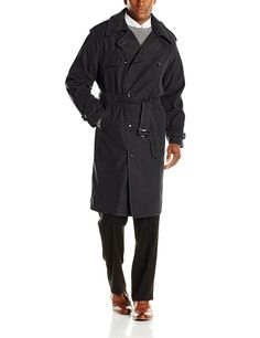 London Fog Men's Iconic Trench Coat at Amazon Men's Clothing store:
