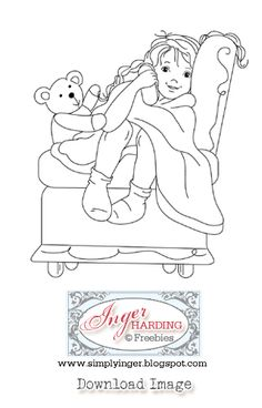 Free digital stamps by Inger Harding. For personal use only.