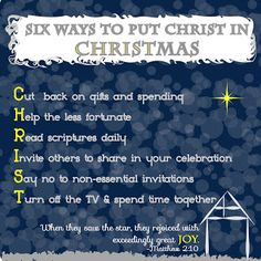 Six Ways to Put Christ in your Christmas
