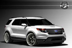 SEMA 2012, un Ford Explorer con parecidos al Range Rover Evoque.