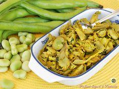 Il sugo per pasta con fave fresche e carciofi è un pieno di vitamine. La pasta di formato sia corto che lungo risulterà strepitosa..