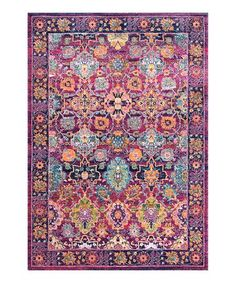 Another great find on #zulily! Fuchsia Persian Leilani Rug #zulilyfinds