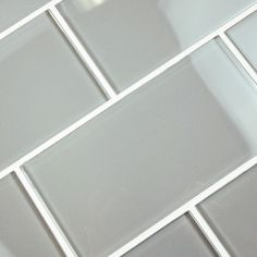 Merola Tile Tessera Subway Blue Smoke 3 in. x 6 in. Glass Wall Tile (1 sq. ft. / pack)