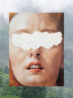 """Digital collage artist Nicholas Mottola Jacobsen likes to fiddle around with classic art paintings on the computer, giving them the illusion of being torn. """"I invent nothing, but I guess everything,"""" he says on his Tumblr site, translated from his native Italian. Taking another go at digital """"defacement,"""" he also pixellates some old masterpieces, like the portrait of the ballerina Carlotta Chabert as Venus, by his countryman the 18th century romanticist painter Francesco Hayez."""