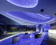 En azul: Planetario Tenku de Konica Minolta en Tokyo, Good Design Award 2012