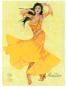 See The Beautiful Costume Sketches From Aladdin the Musical