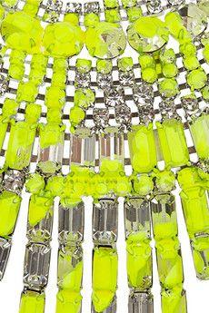 Tom Binns crystal bib necklace.