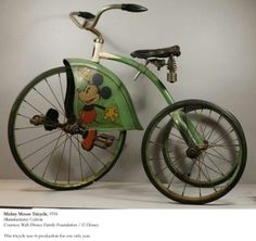 Antique Mickey Mouse Tricycle, 1934...the only year of production for this tricycle.